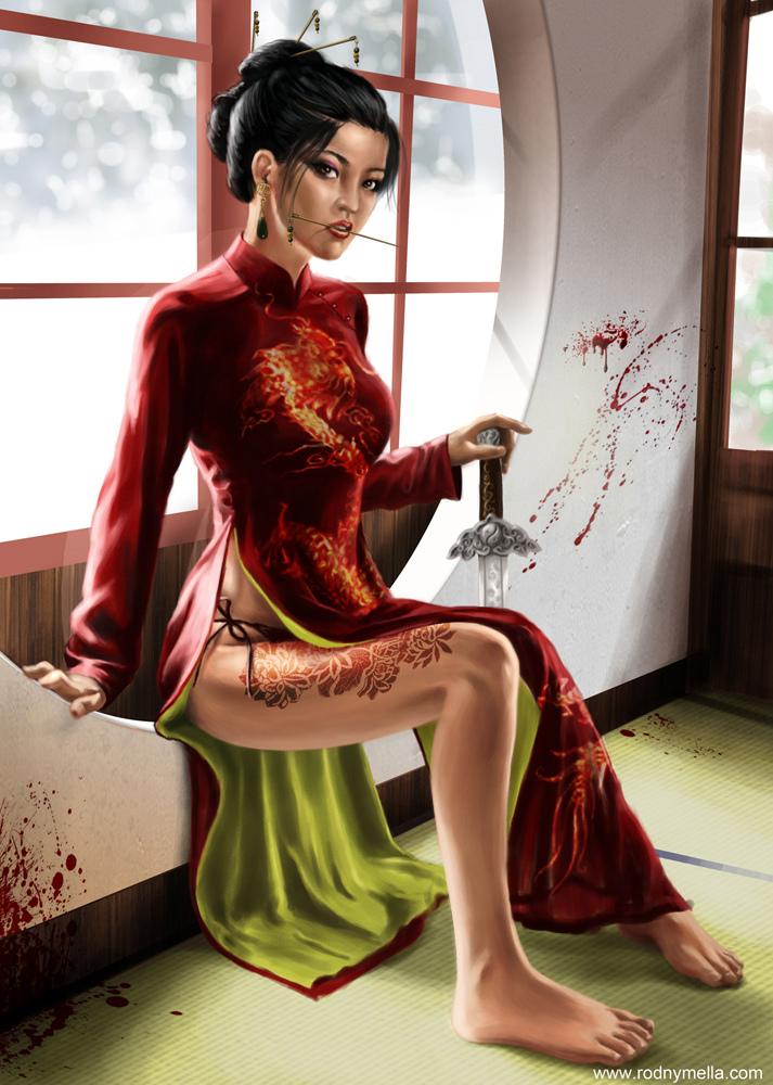 Assassina de Vermelho - Trabalho finalizado