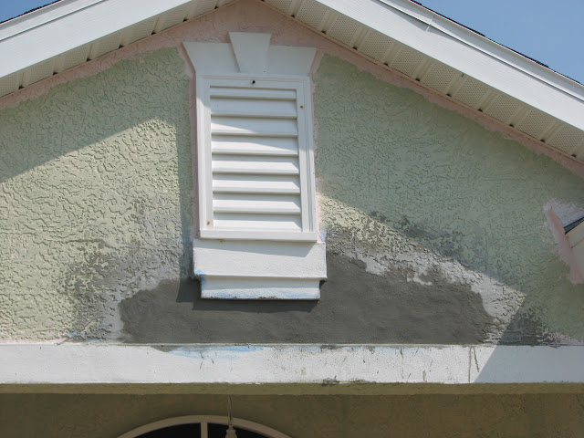 Stucco Repair I Did Last Week In Cocoa Fl On An Exterior Repaint