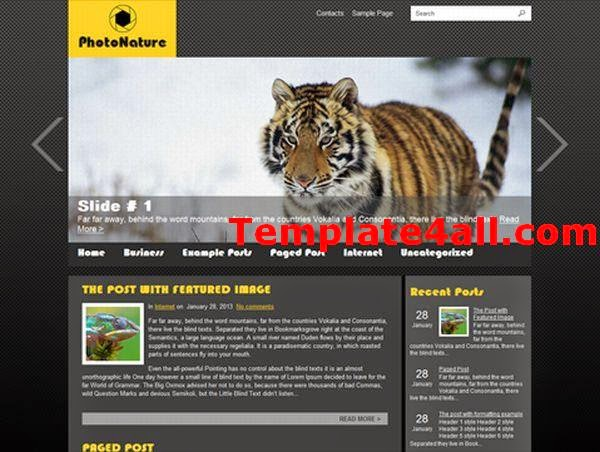 Nature Photos Gallery Wordpress Theme