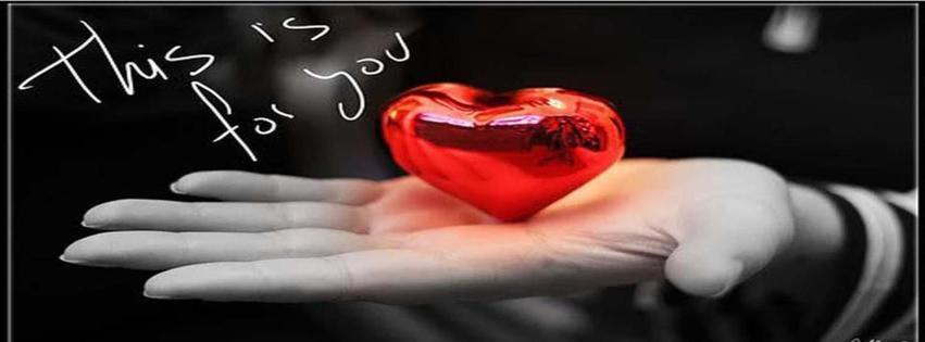 Kalp sunan el facebook kapak fotoğrafı