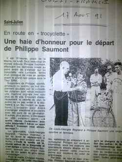 Louis-Geroges BOGRAND sur la Trocyclette