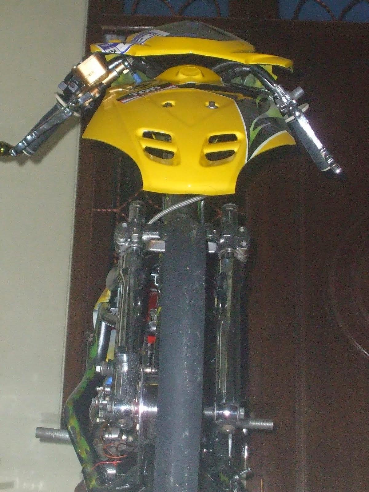 Modifikasi Honda Beat Drag Mothai Racing Look