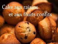 Cakes aux raisins et aux fruits confits