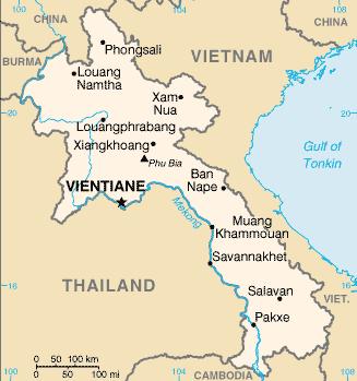 Laos Map-Asia Master Travel Tour Indochine