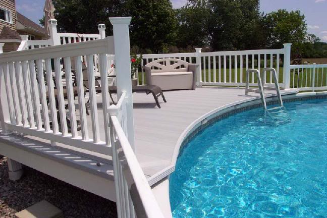 interesting above ground pool deck off house o throughout - Above Ground Pool Deck Off House