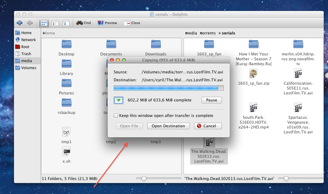 Old KDE Copy Dialog on Mac OS X