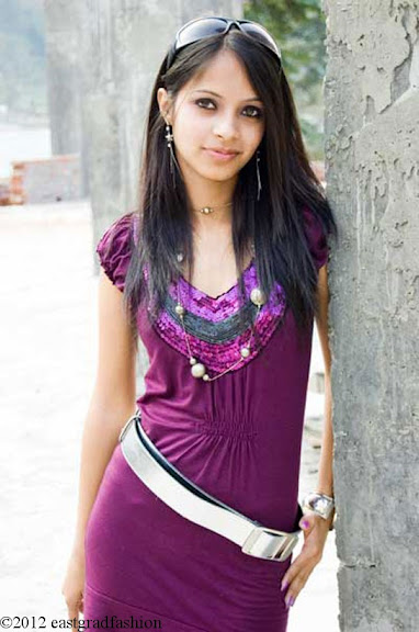 Purple long top: Date Wear for Women