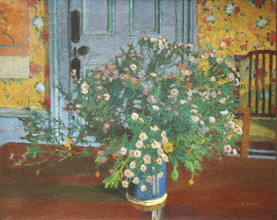 Harold Gilman - Interior with Flowers