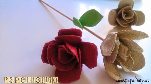 Flores Con Cartones De Huevos Papelisimo