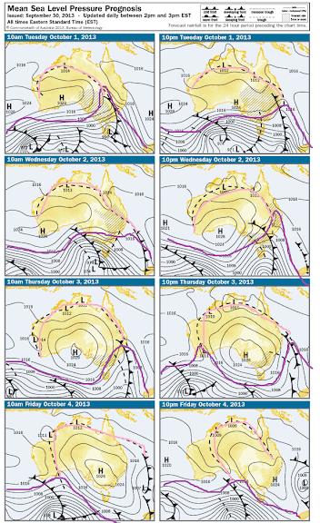 mslp Australia oct 2013