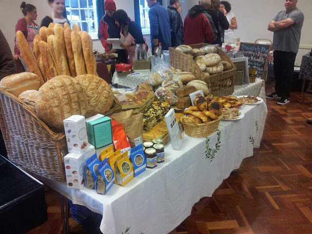 Our stand groaning with baked goodies at the Baslow Food Fair