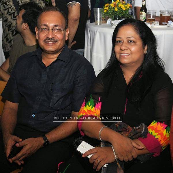 Deependra Pathak and Geeta during the 2014 FIFA World Cup final screening, held at Germany embassy, in New Delhi, on July 13, 2014.