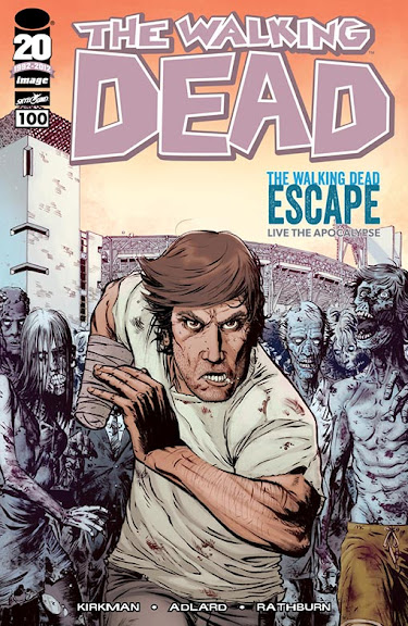 The Walking Dead Escape, la copertina speciale per il n.100 del fumetto