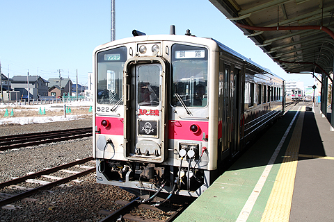 JR北海道 花咲線 キハ54 522 ルパン三世ラッピングトレイン 根室駅にて