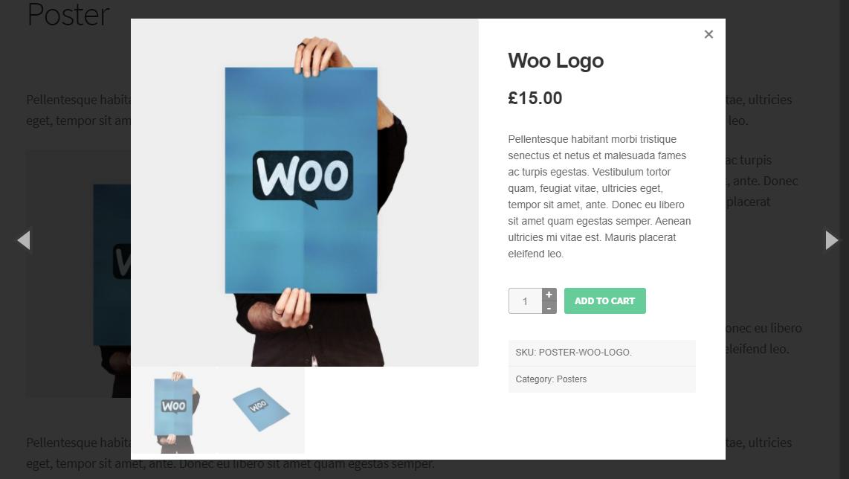 product lightbox WooCommerce