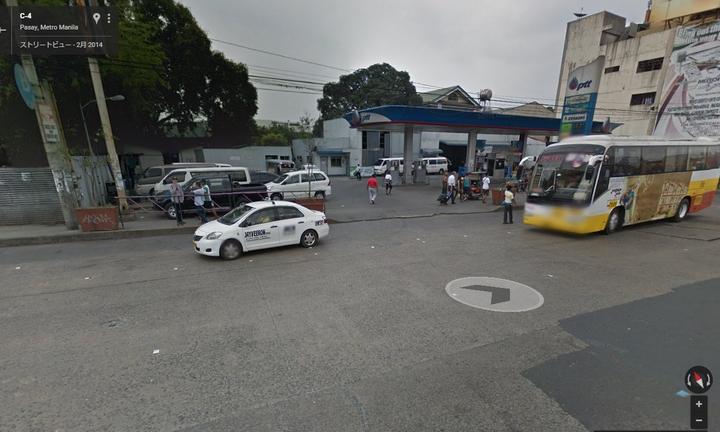 Googleカーより見たパサイの帰路のバス停