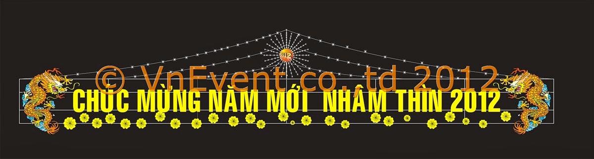 Cổng chào năm mới VnEvent 2012