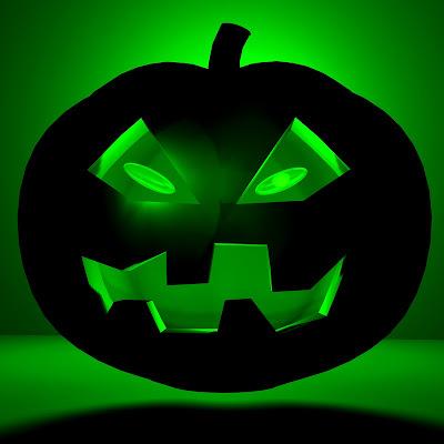 Green Halloween pumpkin