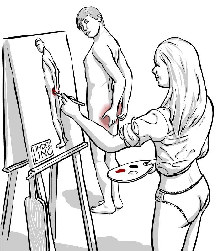 BDSM body writing