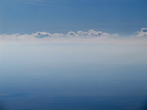 Cedar Mountain barely visible through the haze