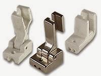 Tipos de prensatelas industriales para coser cremalleras invisibles