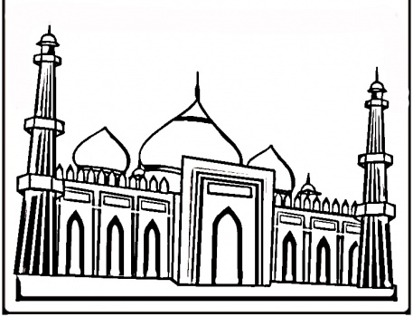 Taj mahal coloring pages