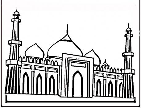 Pinto dibujos taj majal para pintar for Taj mahal coloring page