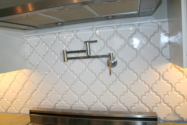 beveled arabesque backsplash install