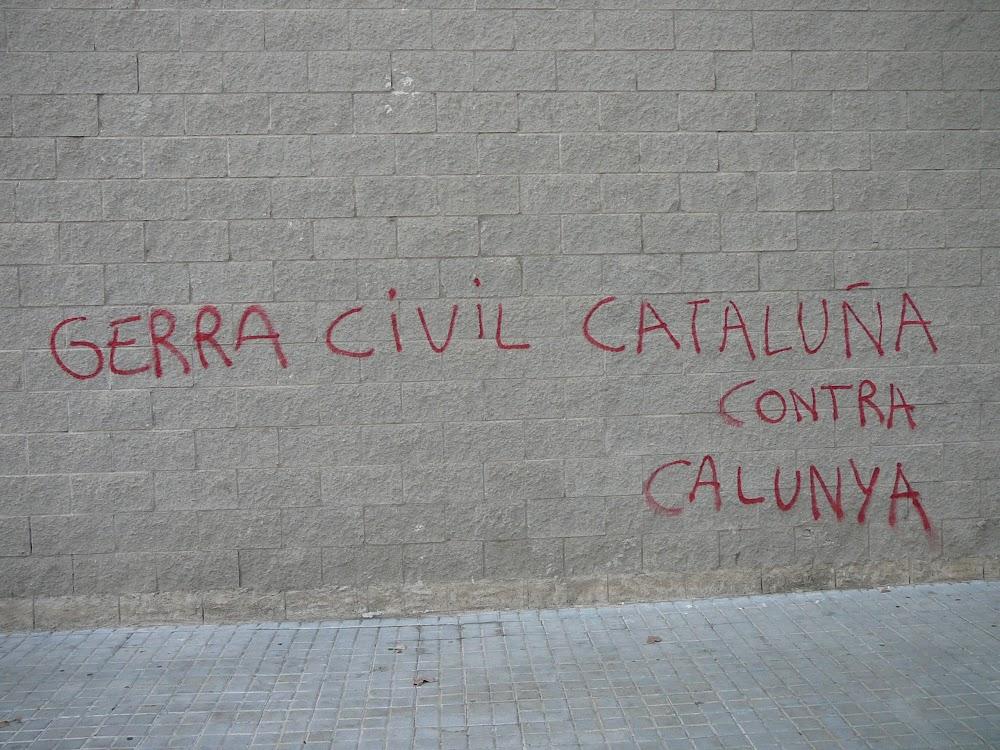 Slogan in Bon Pastor, Barcelona. I blame a CGT drunk.