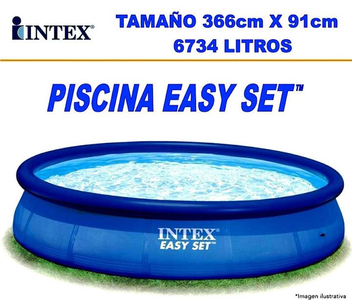 Piscina intex 366 x 91 filtro purificador precio 3399 for Piscina tubular 366 x 91