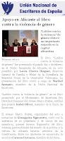 Artículo de la Unión Nacional de Escritores de España