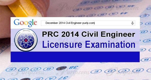 december 2014 civil engineer exam results, list of passers