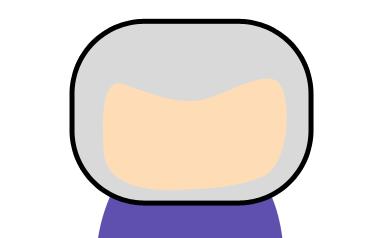 Cabeça do personagem já com contorno