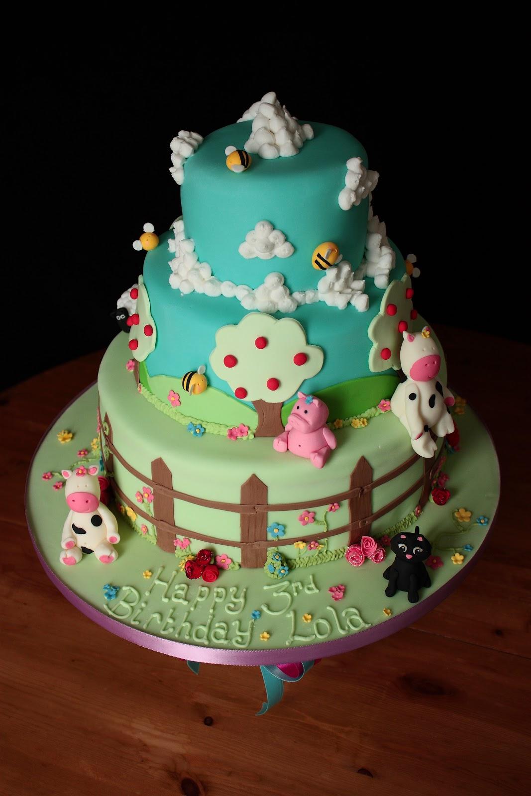 Enjoyable Vanilla Farm Birthday Cake Funny Birthday Cards Online Unhofree Goldxyz