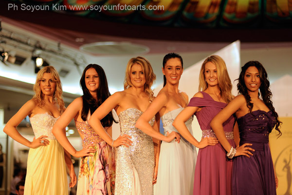 Competitors in Miss Universe Australia 2012 Beauty Pageant - Five Finalists from the Preliminary Stage