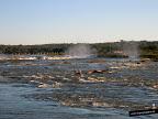 El río Iguazú antes de la caída