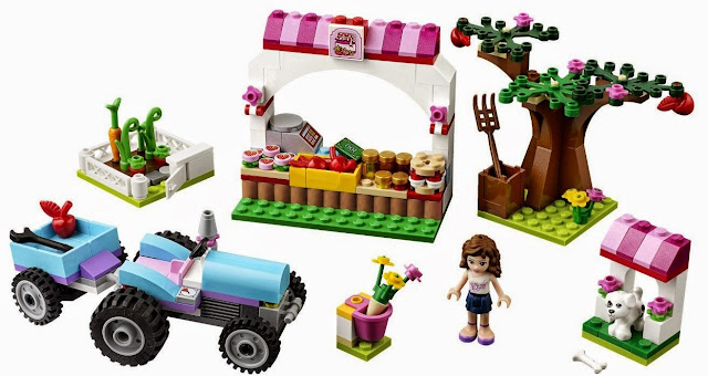Lego 41026 Ngày mùa thu hoạch Sunshine Harvest với nhiều mảnh ghép tươi tắn cho bé lắp ráp và xây dựng bối cảnh thu hoạch