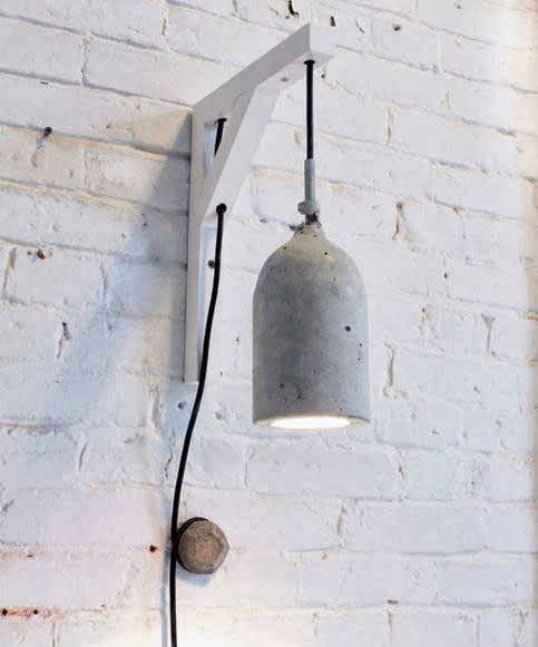 Cómo hacer una lámpara con cemento.