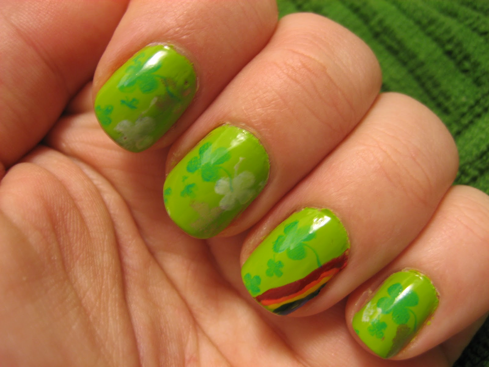 Playing Grown Up Nail Art Luck Of The Irish