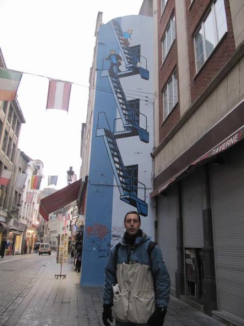 mural de Tintín - Bruselas en un día