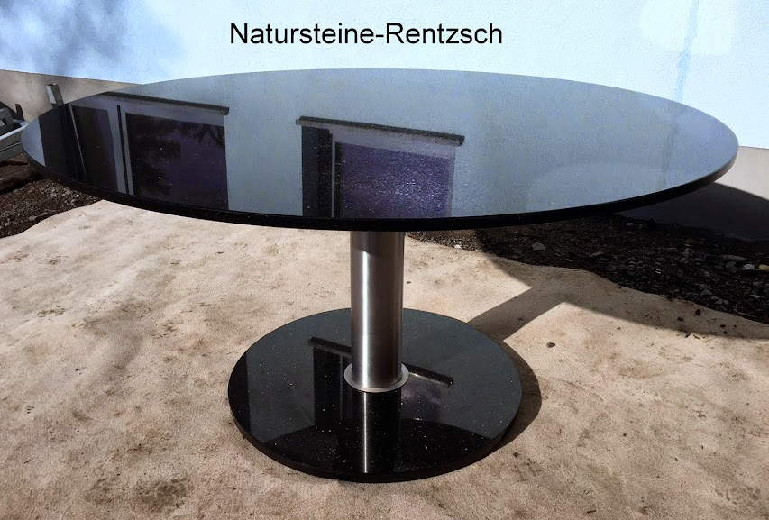 runder esstisch star galaxy wohnzimmer terrassentisch d 150cm granittisch v2a ebay. Black Bedroom Furniture Sets. Home Design Ideas