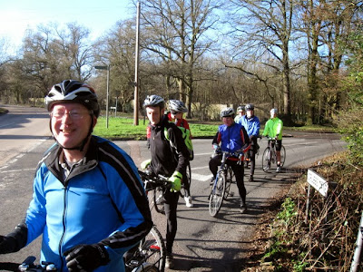 Cyclists in sunshine