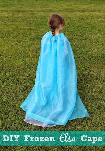 Disney Frozen DIY Elsa Cape - No Sewing Machine!