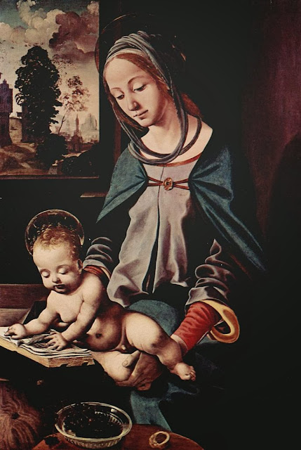 Piero di Cosimo - Madonna mit lesendem Christuskind