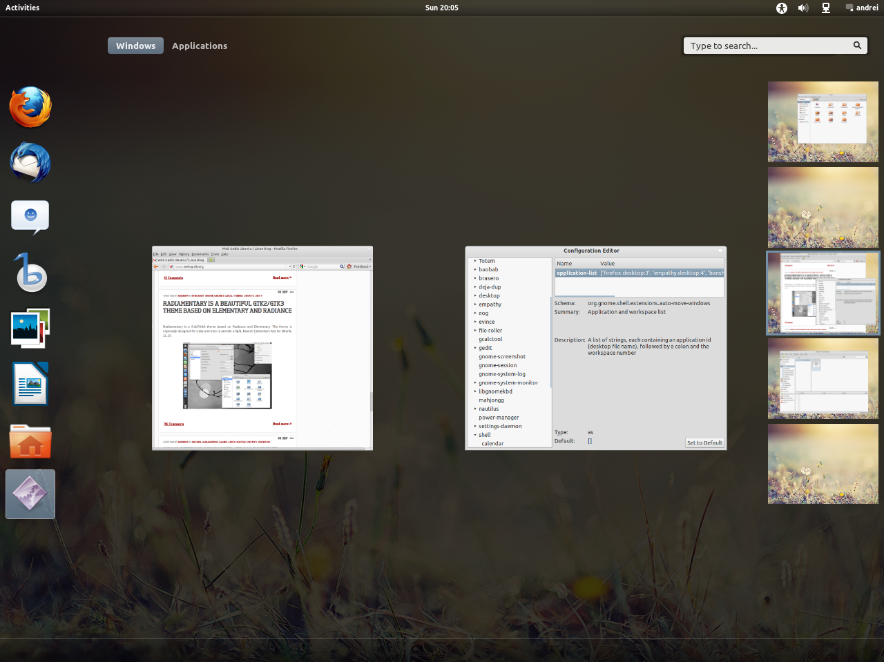 GNOME Shell: Make Applications Start On A Certain Workspace