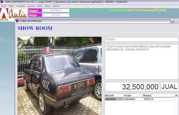 software keuangan showroom mobil