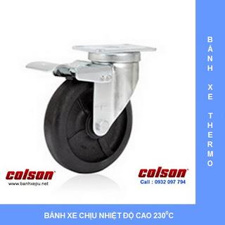 Bánh xe đẩy chịu nhiệt 230 độ C chịu tải trọng (90~136kg) | www.banhxepu.net