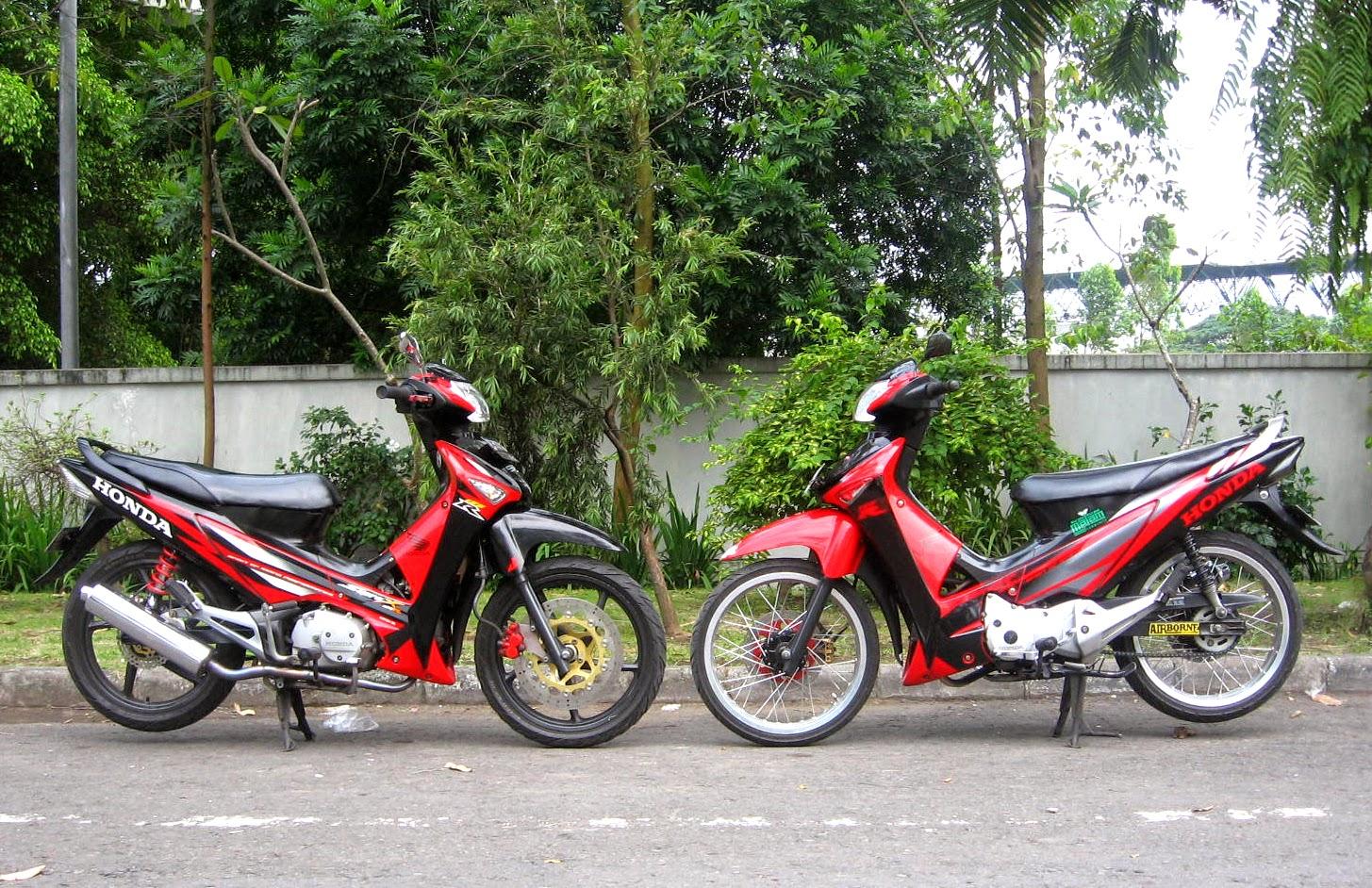 Modifikasi Motor Supra X 125 Warna Hitam