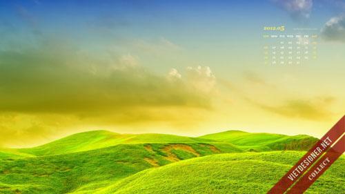 Bộ hình nền kèm lịch tháng 5/2012 với đầy đủ mọi chủ đề