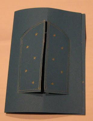 открытка с окном